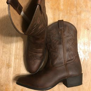 Ariat Boys Western Leather Cowboy Boots